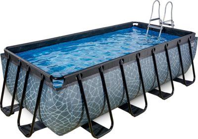 Frame Pool 4x2x1m, grau