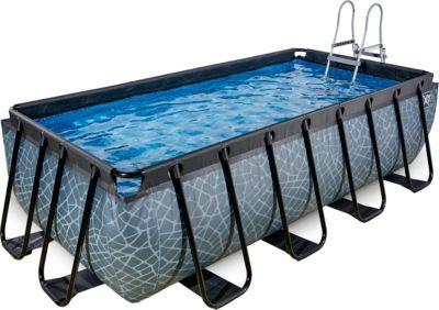 Frame Pool 4x2x1m Premium, grau