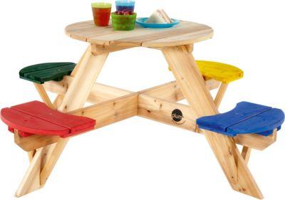 plum Kinder Picknicktisch rund mit farbigen Sitzen   Baumarkt > Camping und Zubehör > Weiteres-Campingzubehör   plum