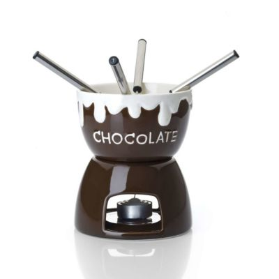 BUTLERS BOBBY BROWN Schokoladenfondue 6-tlg. dunkelbraun | Küche und Esszimmer > Küchengeräte > Fondue | Butlers