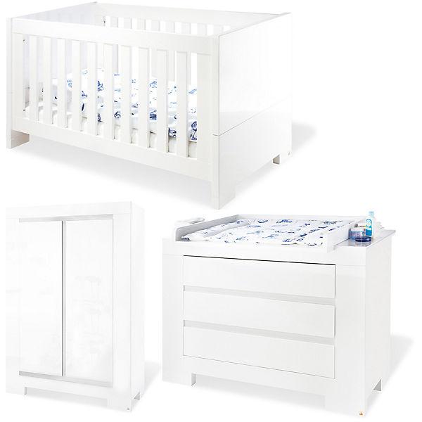 Komplett Kinderzimmer Arctica 3 Tlg Kinderbett Wickelkommode Und