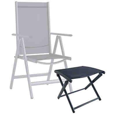 klappbarer aluminium hocker gepolstert grau yomonda. Black Bedroom Furniture Sets. Home Design Ideas