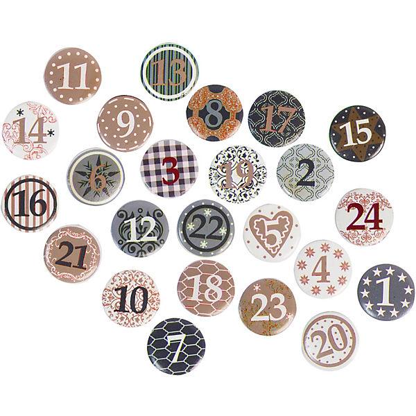 24 st ck streudeko adventskalender zahlen mit klebepunkten je 2 5 cm beige hotex yomonda. Black Bedroom Furniture Sets. Home Design Ideas