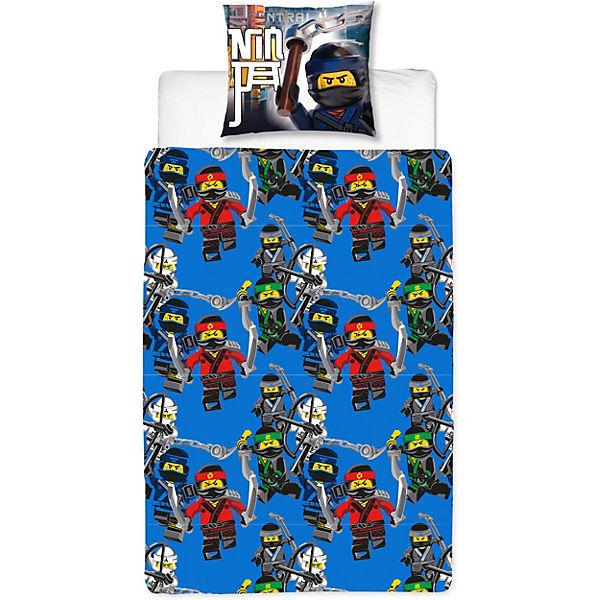 Wende Kinderbettwäsche Lego Ninjago Movie Flanell 135 X 200 Cm