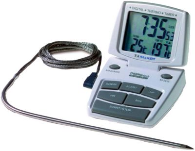 Digitales Grill- & Bratenthermometer mit Timer ...