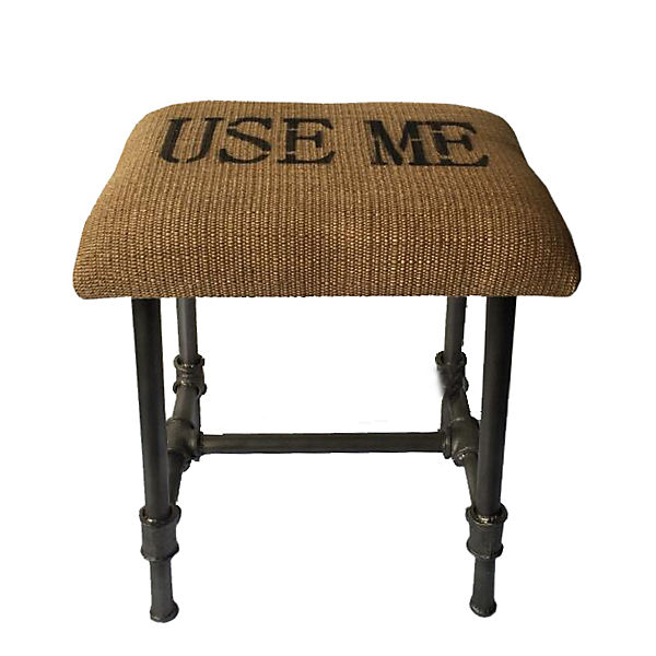 "Steampunk Hocker ""Use me"""