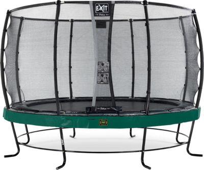 EXIT Trampolin Elegant Premium 366 cm + Sicherheitsnetz Deluxe, grün | Kinderzimmer > Spielzeuge > Trampoline | EXIT