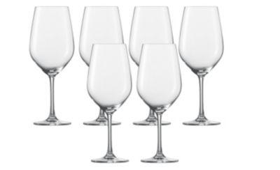 6-tlg. Wasser- Rotweinglas ´´Vina´´ farblos