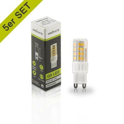 G9 LED-Leuchtmittel, warmweiß, 5,4 W farblos