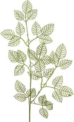 Deko-Zweig L80 cm grün