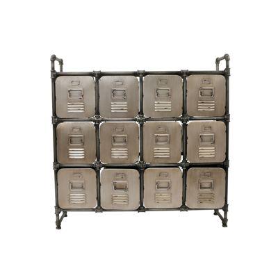 Schubladen-Kommode ´´Steampunk´´ 107x101 cm grau