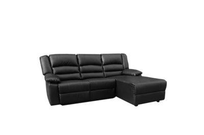Polster-Garnitur 3 Sitzer ´´Genua´´ schwarz