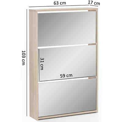 walnuss schuhkipper 104 3x55 x20 2 beige yomonda. Black Bedroom Furniture Sets. Home Design Ideas