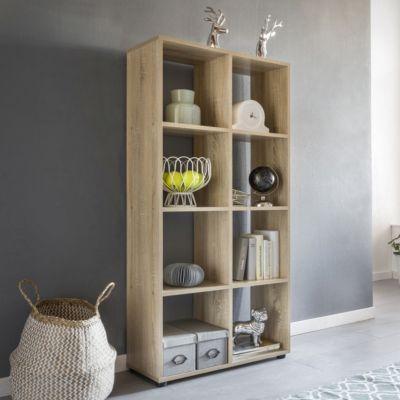 Würfel-Regal & Raumtrenner mit 8 Fächern 70x142x29 cm braun | Wohnzimmer > Regale > Regalwürfel | Spanplatte | yomonda