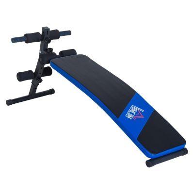 Sit-Up-Trainingsbank 144x47x51 cm schwarz