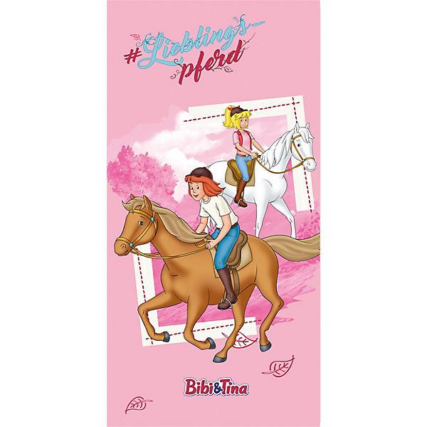 Strand Badetuch Bibi Tina Lieblingspferd 75 X 150 Cm Rosa
