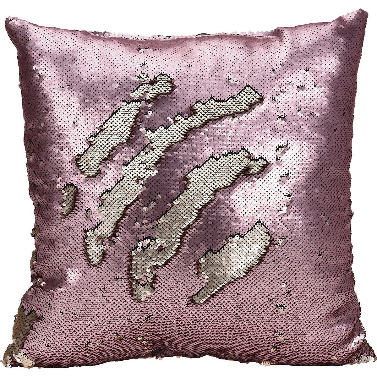 dekokissen mit wende pailletten 45x45 cm rosa yomonda. Black Bedroom Furniture Sets. Home Design Ideas