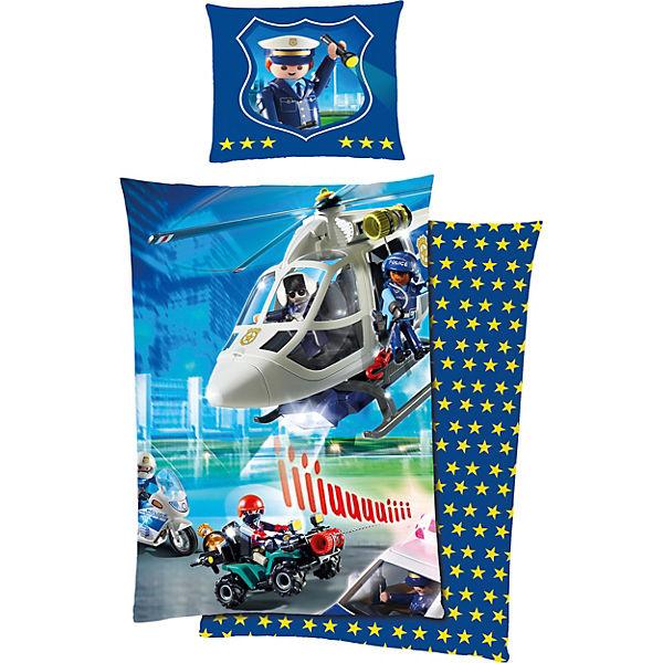 Ab Kw 45 Wende Kinderbettwäsche Playmobil Polizei 135 X 200 Cm