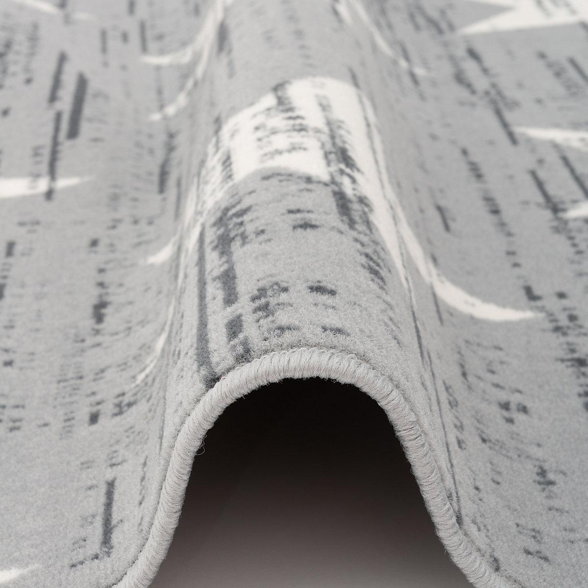 designer teppich canvas sterne grau yomonda. Black Bedroom Furniture Sets. Home Design Ideas
