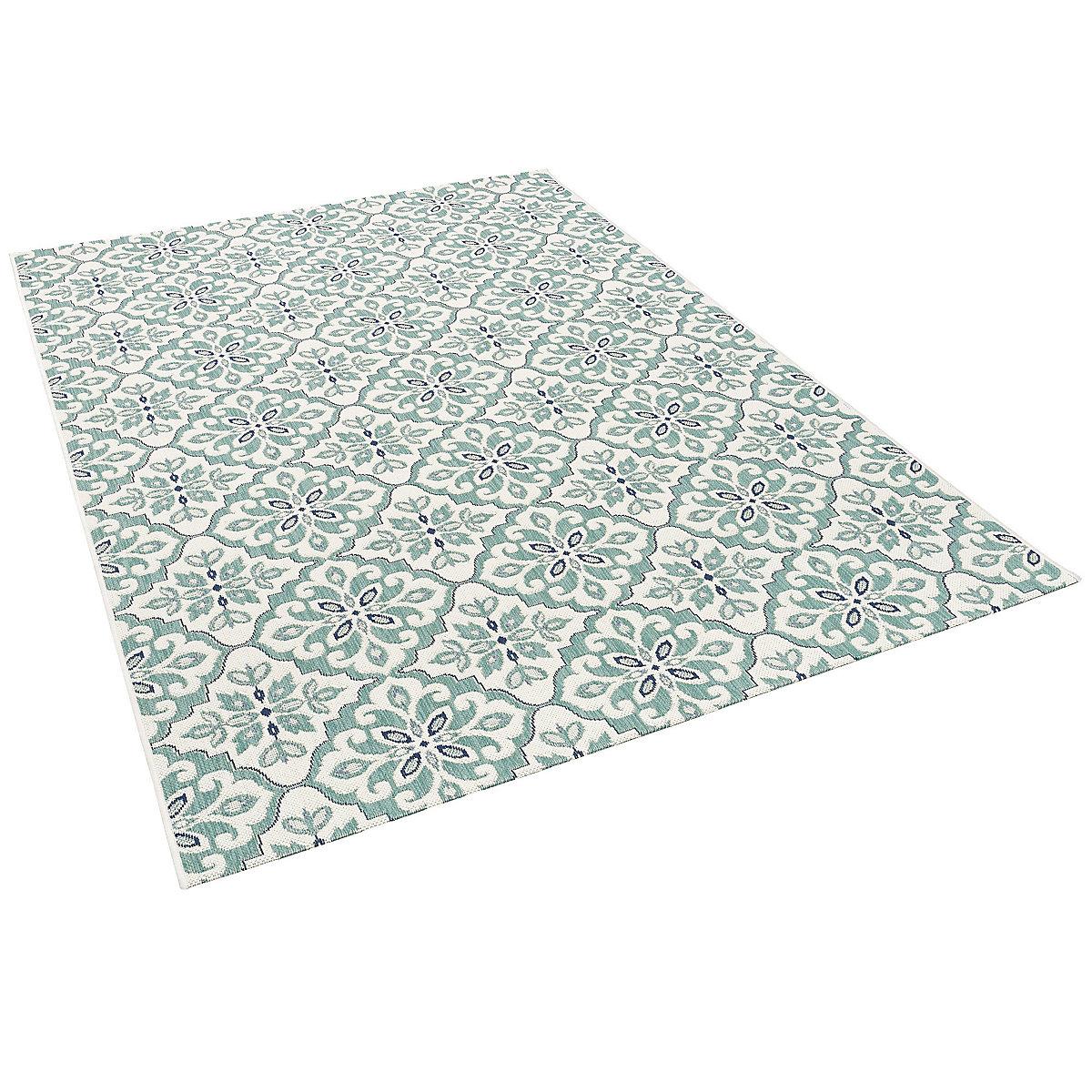 in outdoor teppich carpetto fliesenoptik gr n yomonda. Black Bedroom Furniture Sets. Home Design Ideas
