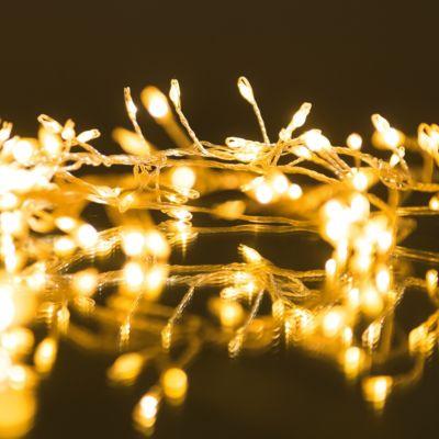 Cluster Lichterkette, warmweiß, 768 LEDs, 6m, 8...