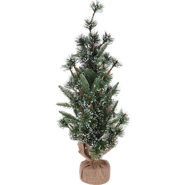 Weihnachtsbaum Künstlich 100cm.Künstlicher Mini Weihnachtsbaum Verschneit H60 Cm Grün
