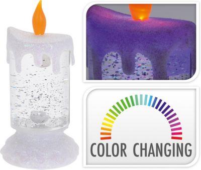 LED Kerze, farbwechselnd, H18cm, batteriebetrie...