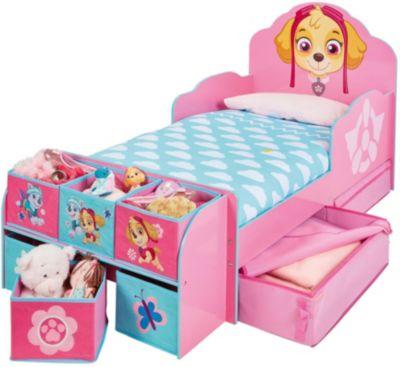 Kinderbett de Luxe mit Ablageregal, PAW Patrol Skye, 70 x 140 cm ...