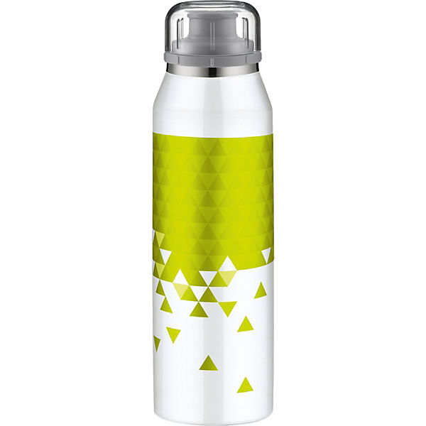 Alfi Isolier-Trinkflasche isoBottle 3D-Effekt Style White-Lime, 500 ml