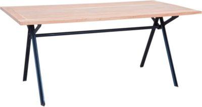 Akazien Massivholz & Metall Esstisch 180x90 cm braun