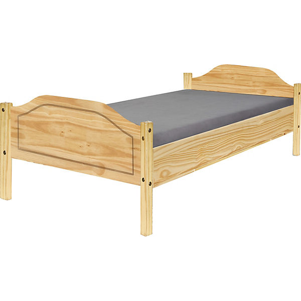Kiefer Massiholz Bett 90x200 Cm Beige Yomonda