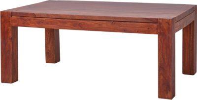Sheesham Massivholz Couchtisch 110x65x45 cm braun