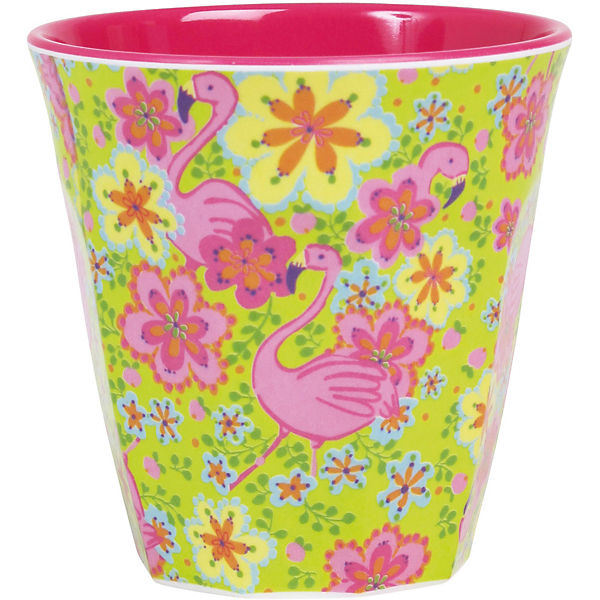 "Melamin Trinkbecher ""Flamingo Two Tone"" H9 cm"