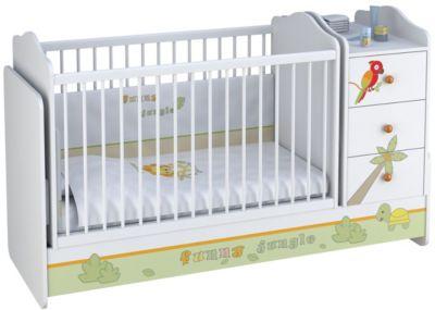 Polini-kids Kombi-Kinderbett Basic mit Kommode