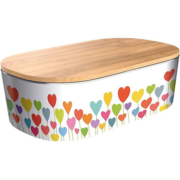 Bambus Lunchbox Mit Holzdeckel Heart Garden 21x13x6 5 Cm