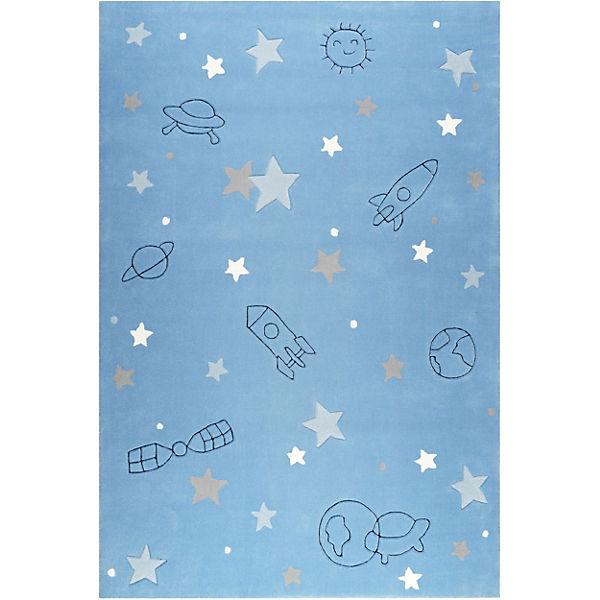 Esp 4270 01 Kinderzimmerteppich Han 70 X 140 Cm Hellblau Blau Esprit