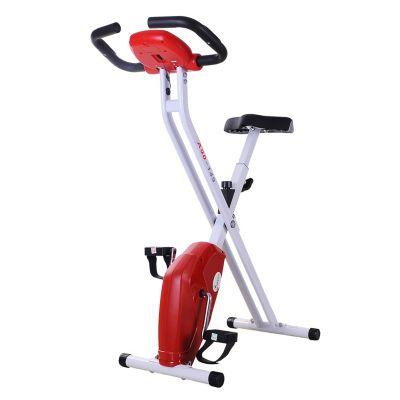 Heimtrainer Fahrrad rot/weiß