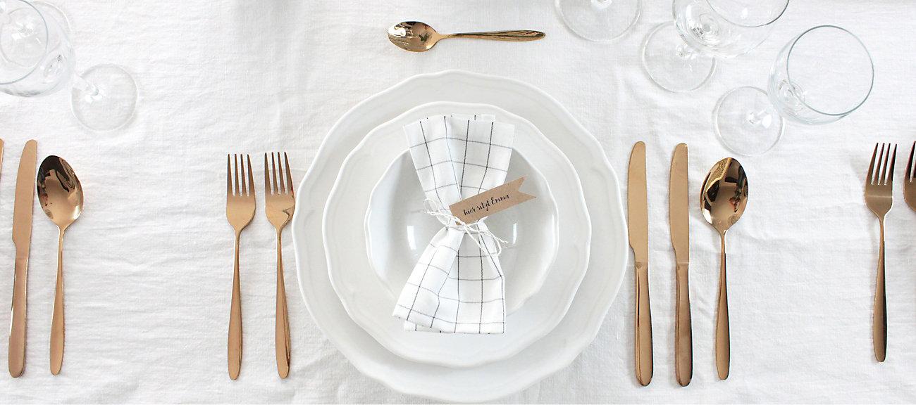 Der perfekt gedeckte tisch yomonda for Tisch richtig eindecken besteck