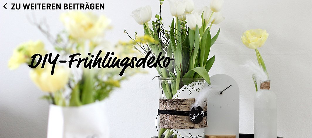 diy fr hlingsdeko yomonda. Black Bedroom Furniture Sets. Home Design Ideas